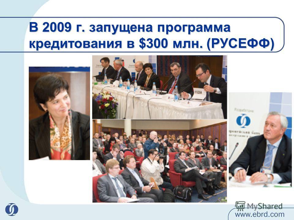 В 2009 г. запущена программа кредитования в $300 млн. (РУСЕФФ)