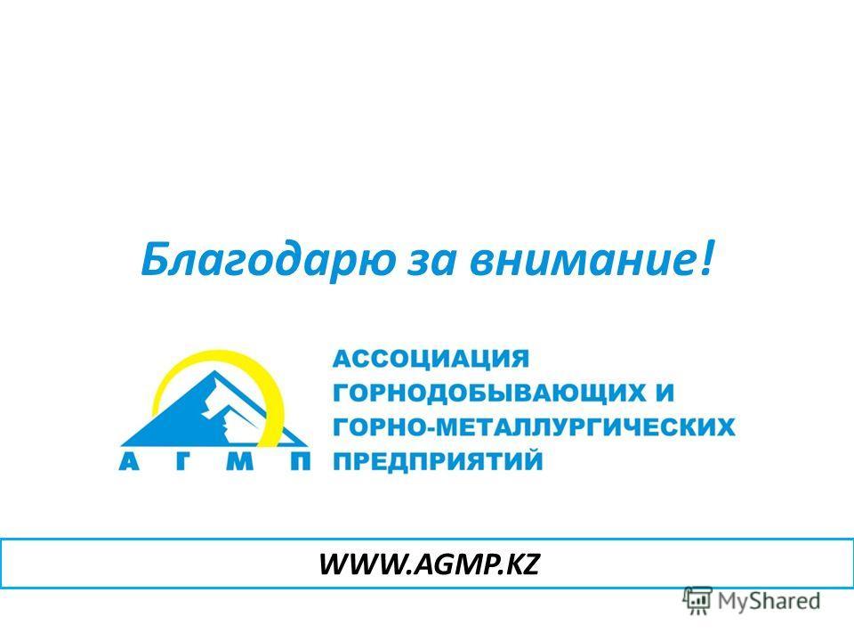Благодарю за внимание! WWW.AGMP.KZ