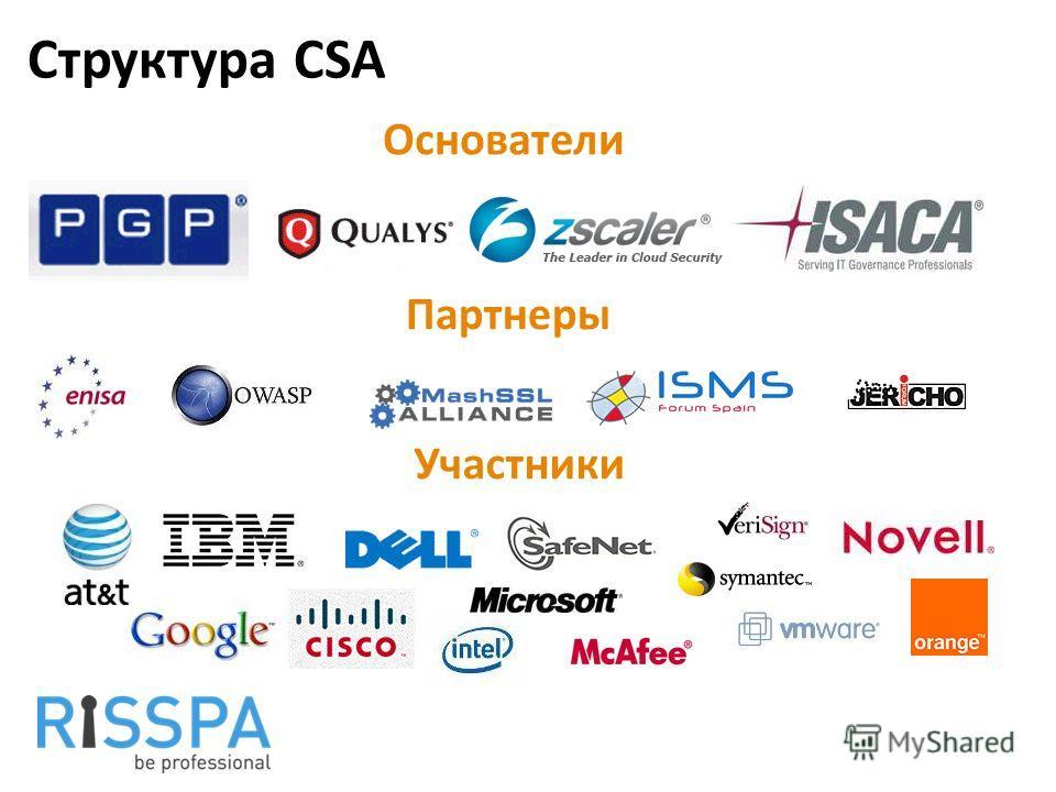 Структура CSA Основатели Партнеры Участники
