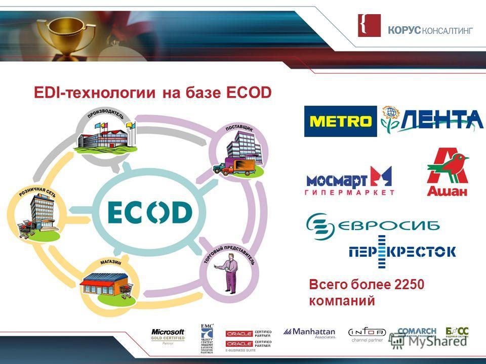 EDI-технологии на базе ECOD Всего более 2250 компаний