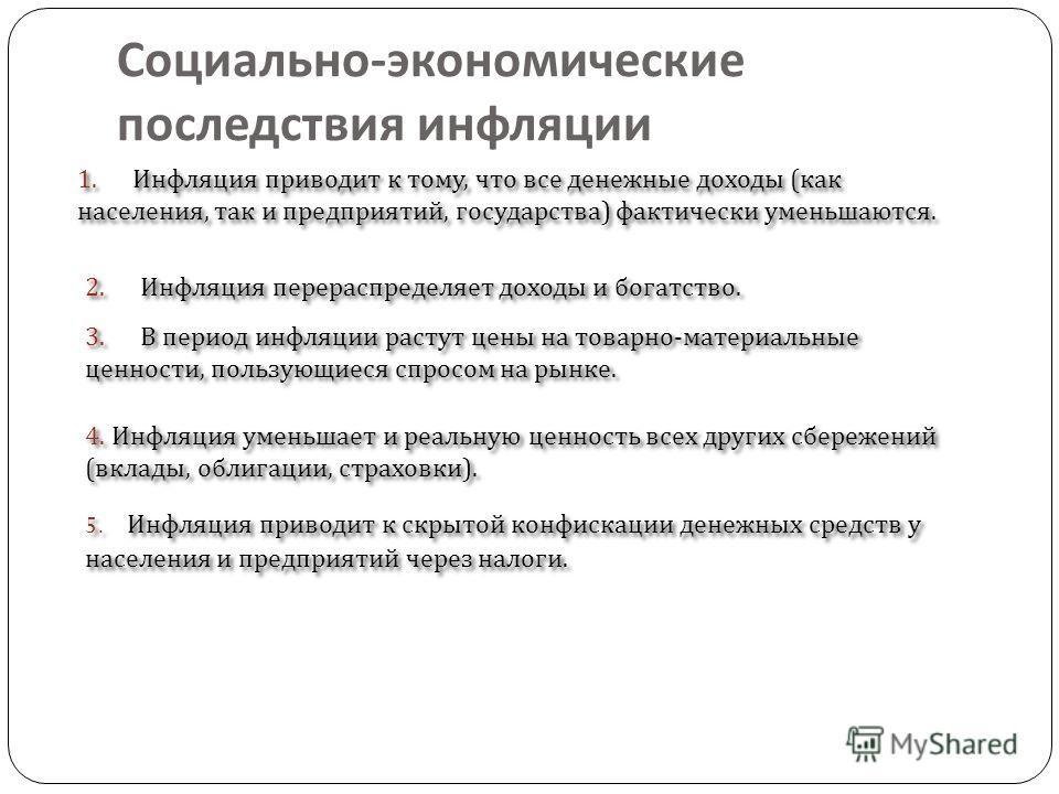 Инфляция в экономике россии причины и последствия