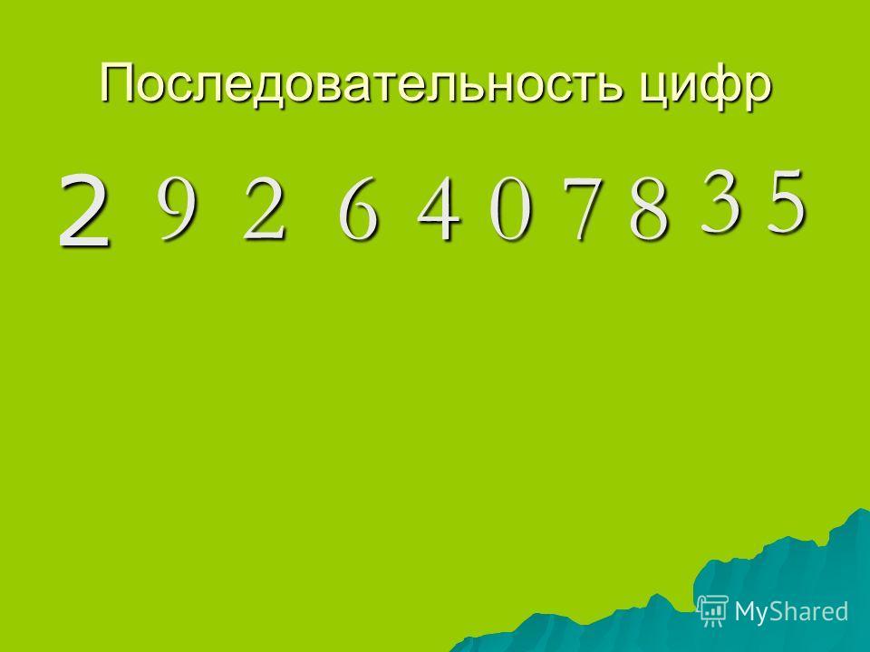 Последовательность цифр 29264078 35