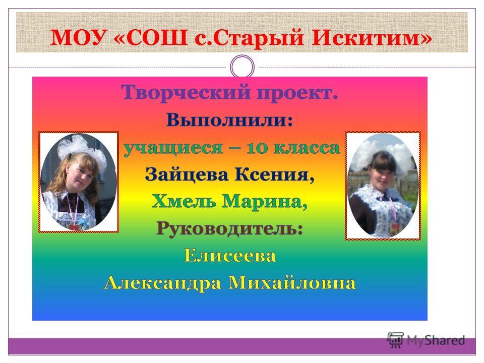 МОУ «СОШ с.Старый Искитим»