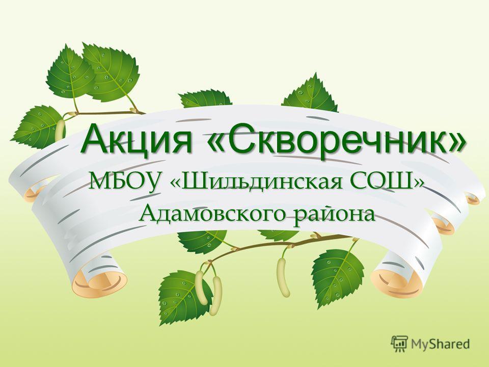 Акция «Скворечник» МБОУ «Шильдинская СОШ» Адамовского района