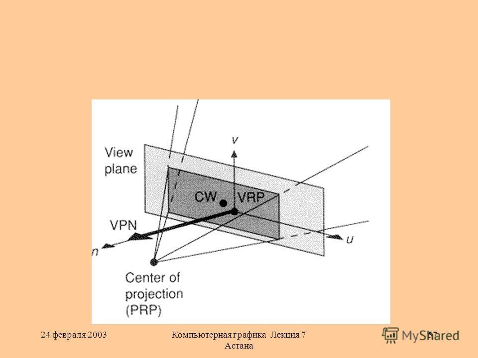 24 февраля 2003Компьютерная графика Лекция 7 Астана 57