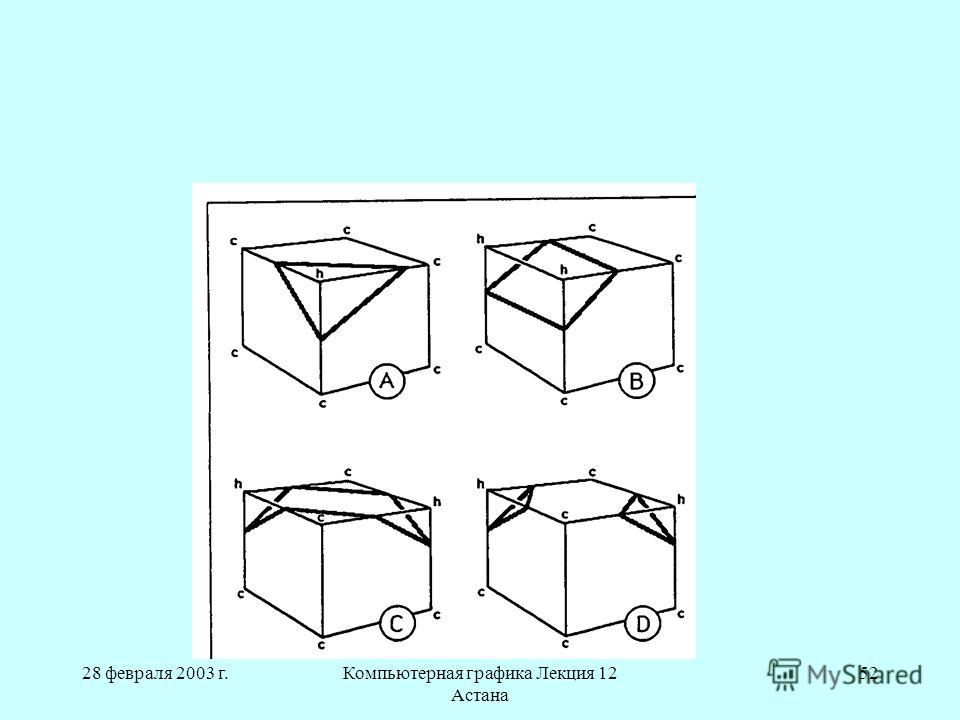 28 февраля 2003 г.Компьютерная графика Лекция 12 Астана 52
