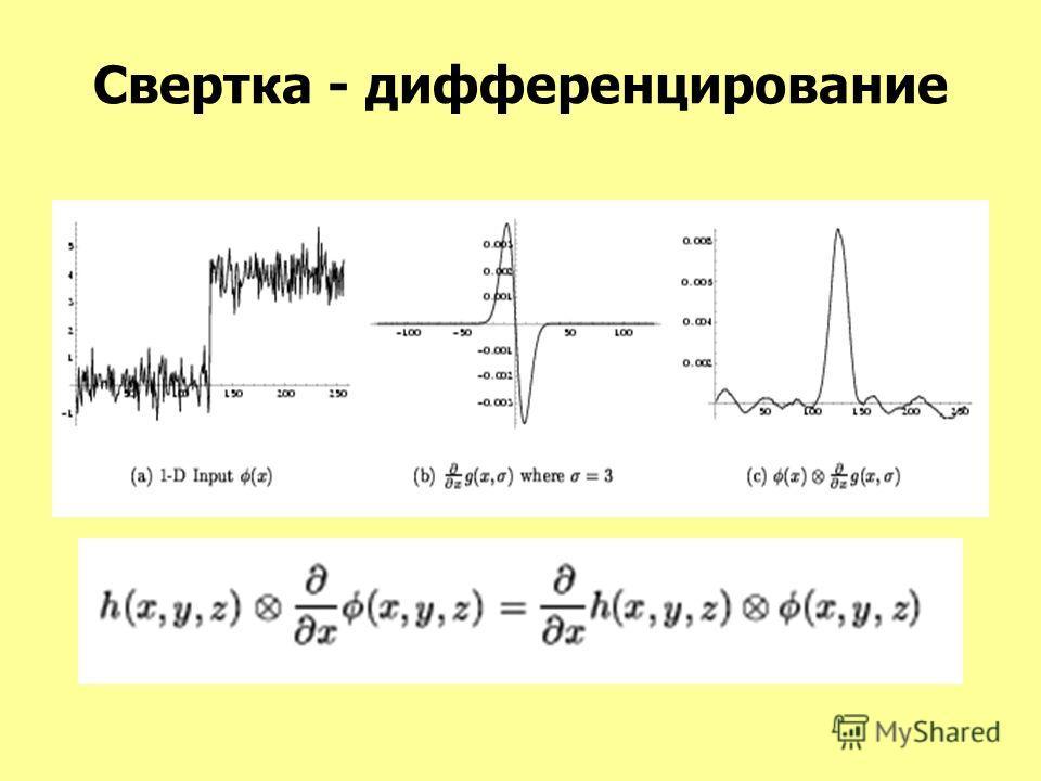 Свертка - дифференцирование