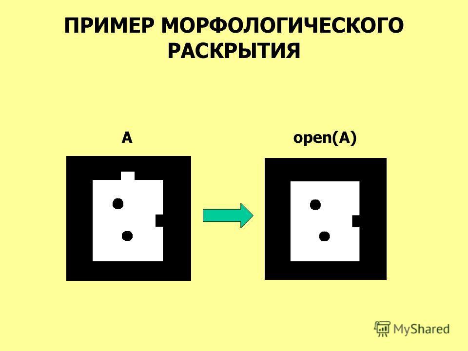 ПРИМЕР МОРФОЛОГИЧЕСКОГО РАСКРЫТИЯ Aopen(A)