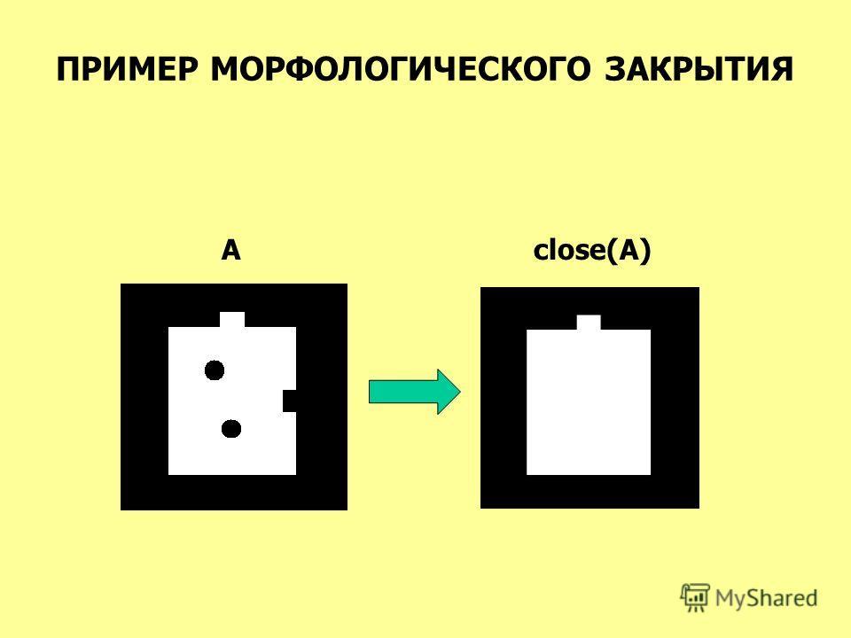 ПРИМЕР МОРФОЛОГИЧЕСКОГО ЗАКРЫТИЯ Aclose(A)