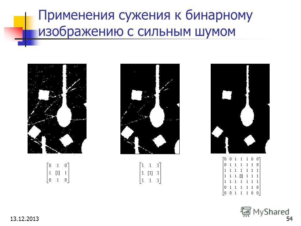 Применения сужения к бинарному изображению с сильным шумом 13.12.201354