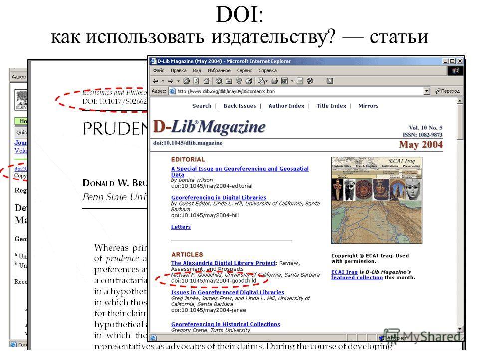 DOI: как использовать издательству? статьи