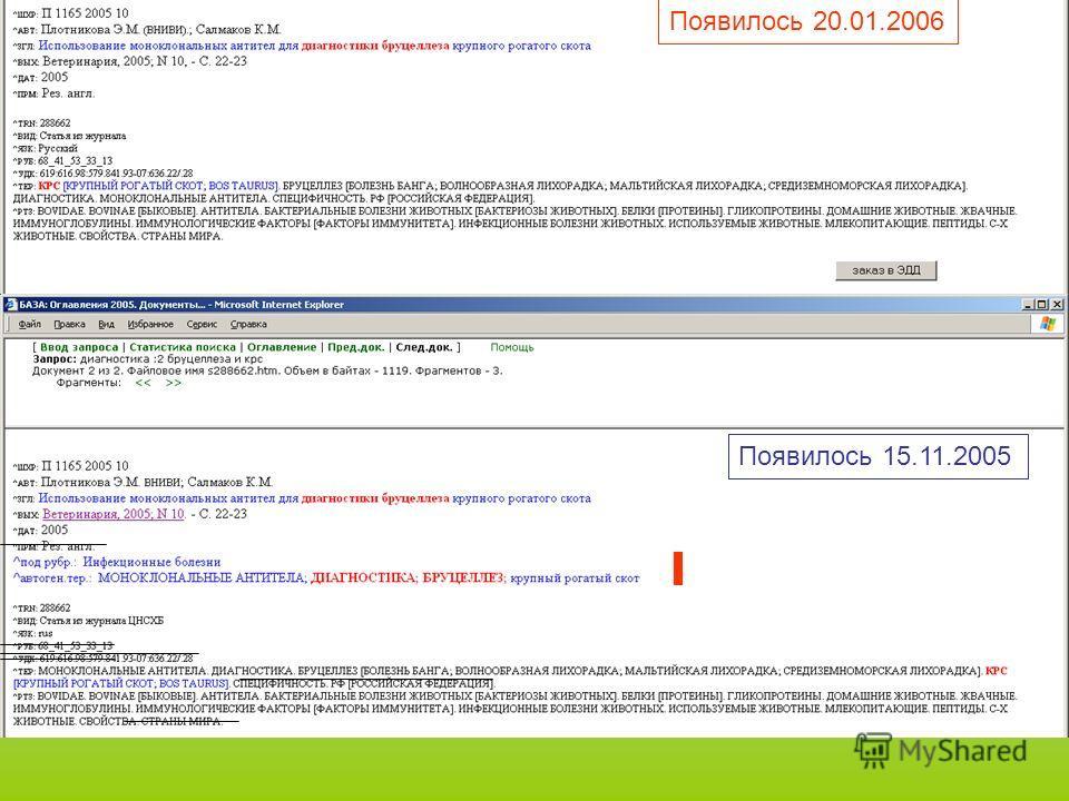 Появилось 20.01.2006 Появилось 15.11.2005