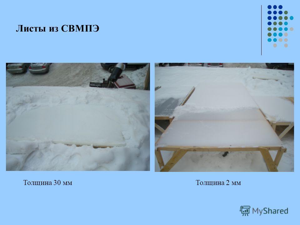 Листы из СВМПЭ Толщина 30 ммТолщина 2 мм