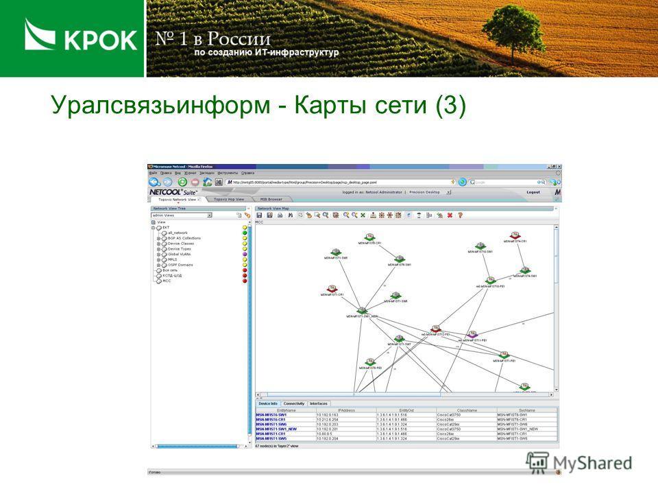 Уралсвязьинформ - Карты сети (2)