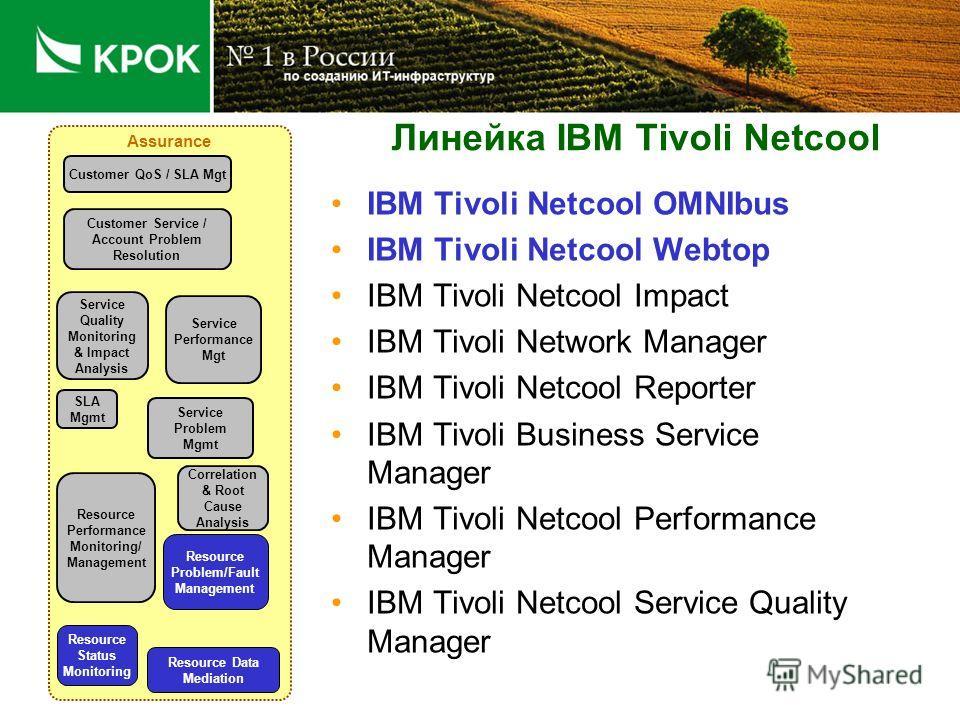 IBM Tivoli - Позиция на рынке (Обеспечение качества услуг)