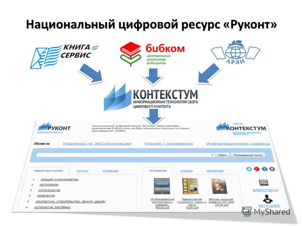 Национальный цифровой ресурс «Руконт»