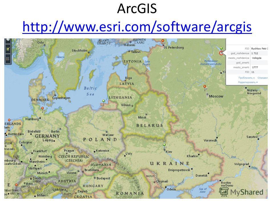 ArcGIS http://www.esri.com/software/arcgis http://www.esri.com/software/arcgis