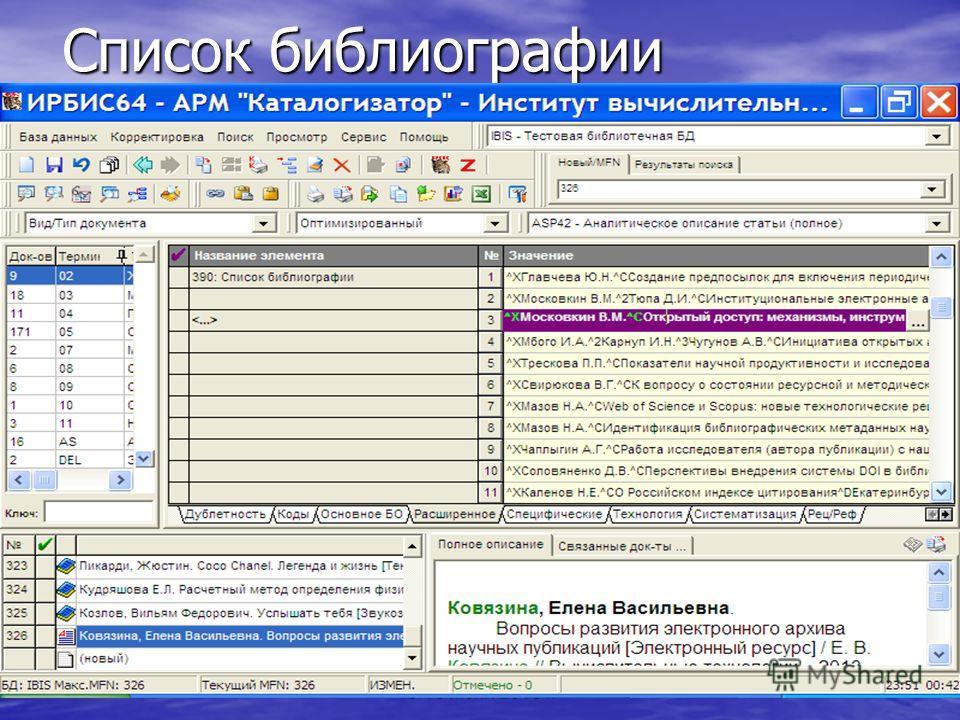 Список библиографии Crimea-2013, Судак, Украина, 8-16 июня 2013 г.