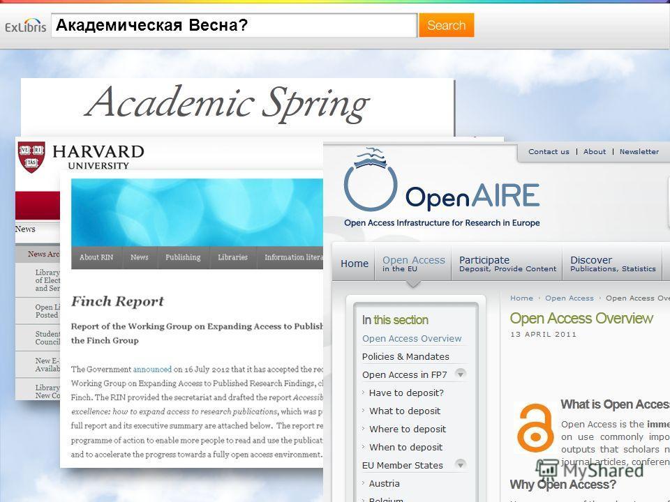 Академическая Весна?