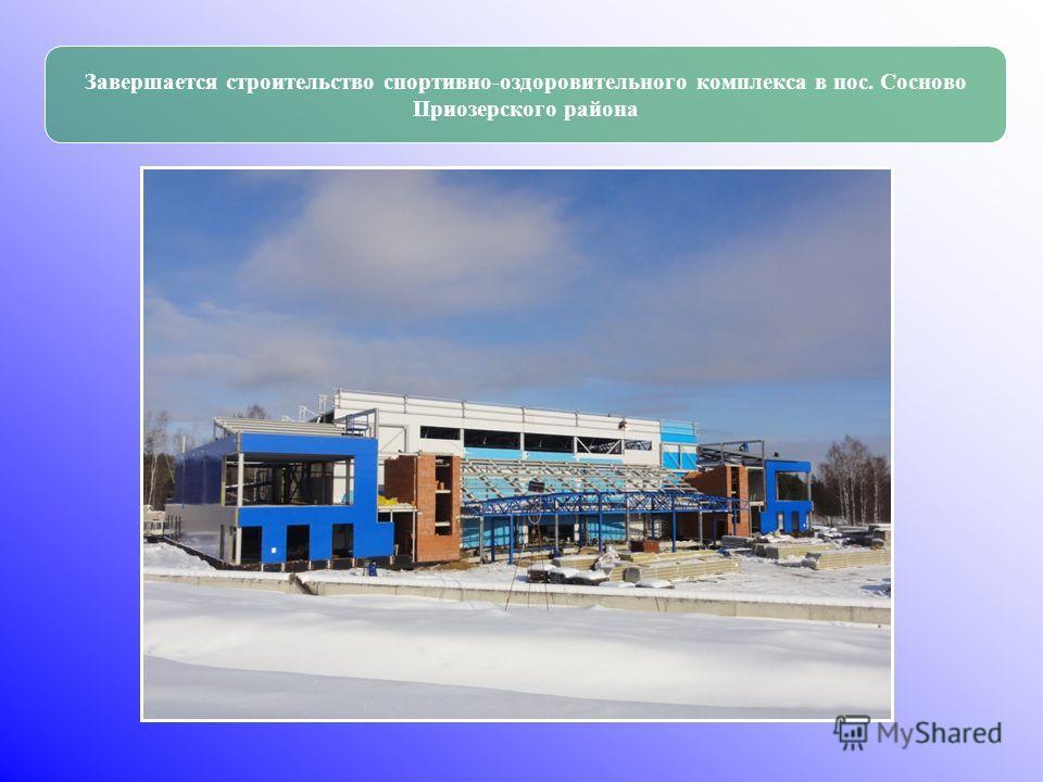 Завершается строительство спортивно-оздоровительного комплекса в пос. Сосново Приозерского района