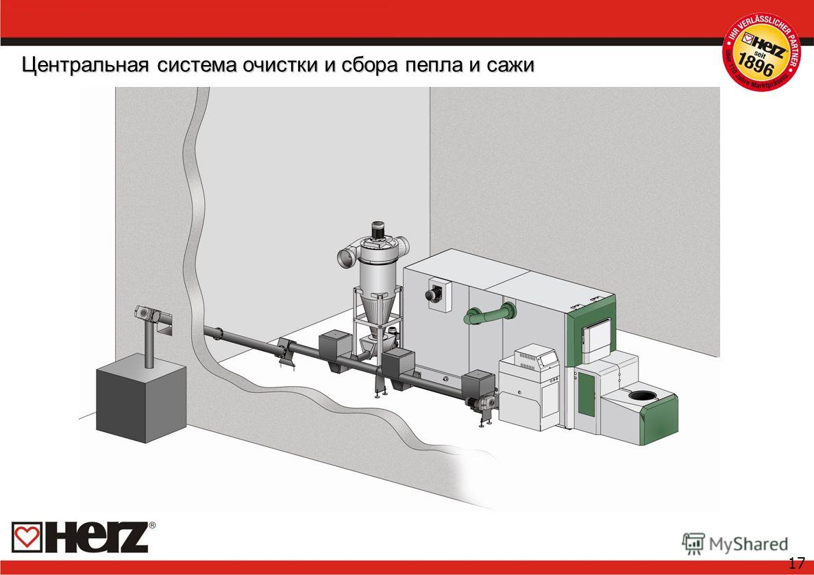 17 Центральная система очистки и сбора пепла и сажи