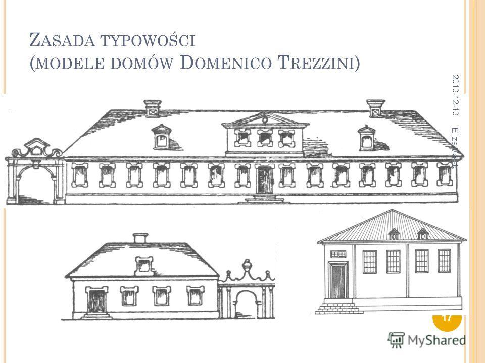 Z ASADA TYPOWOŚCI ( MODELE DOMÓW D OMENICO T REZZINI ) 2013-12-13 17 Eliza Małek