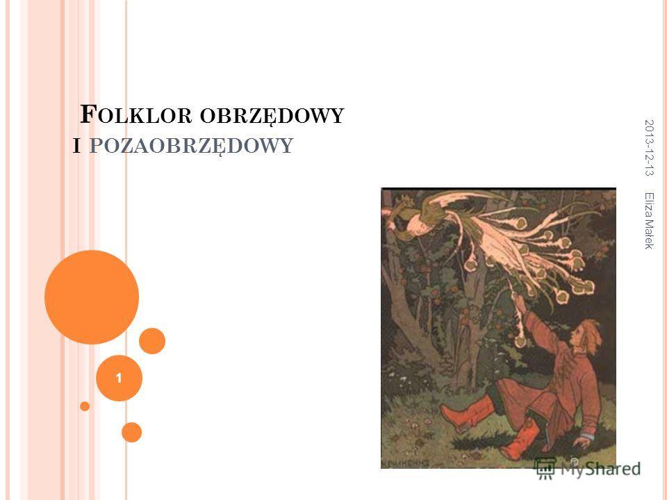 F OLKLOR OBRZĘDOWY I POZAOBRZĘDOWY 2013-12-13 Eliza Małek 1