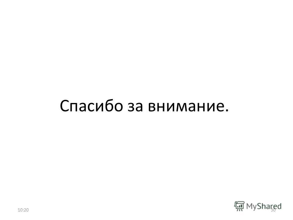 Спасибо за внимание. 10:2130