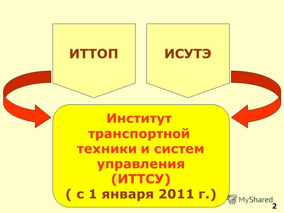 2 ИТТОП Институт транспортной техники и систем управления (ИТТСУ) ( с 1 января 2011 г.) ИСУТЭ