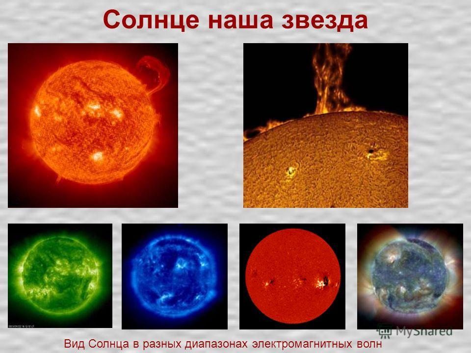Солнце наша звезда Вид Солнца в разных диапазонах электромагнитных волн