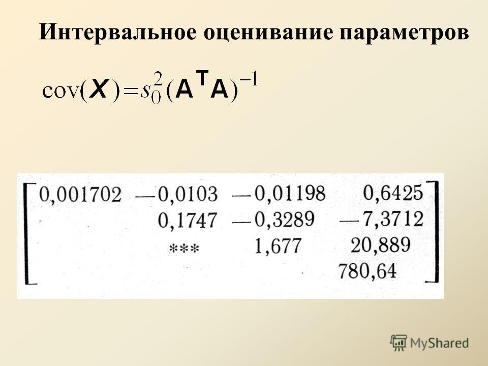 Интервальное оценивание параметров