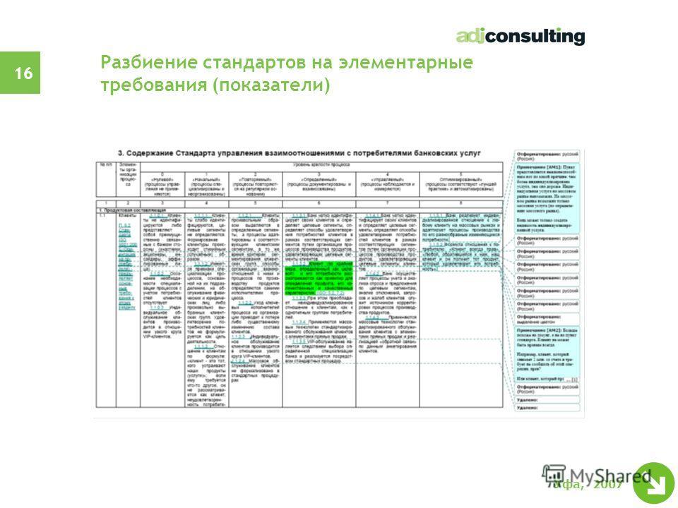 15 Уфа, 2007 Построение совместимой модели
