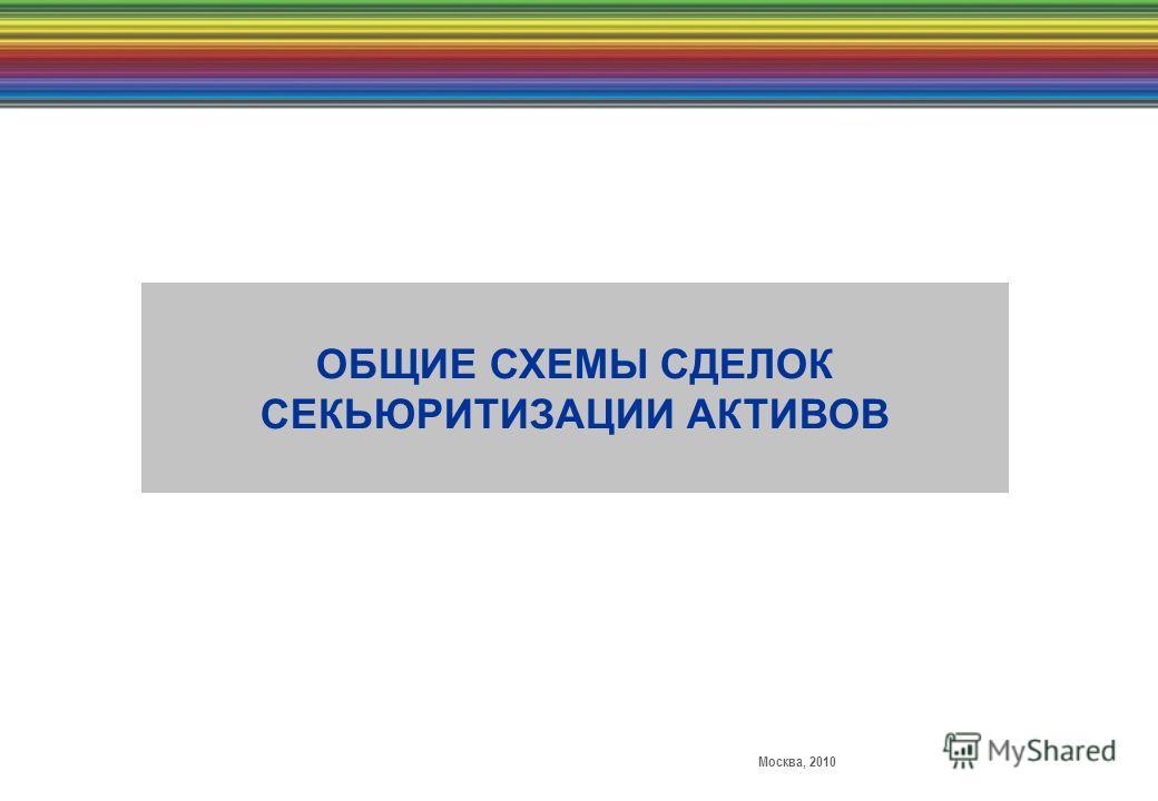 Москва, 2010 ОБЩИЕ СХЕМЫ СДЕЛОК СЕКЬЮРИТИЗАЦИИ АКТИВОВ