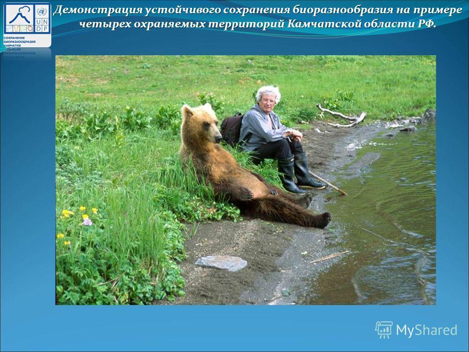 Демонстрация устойчивого сохранения биоразнообразия на примере четырех охраняемых территорий Камчатской области РФ.