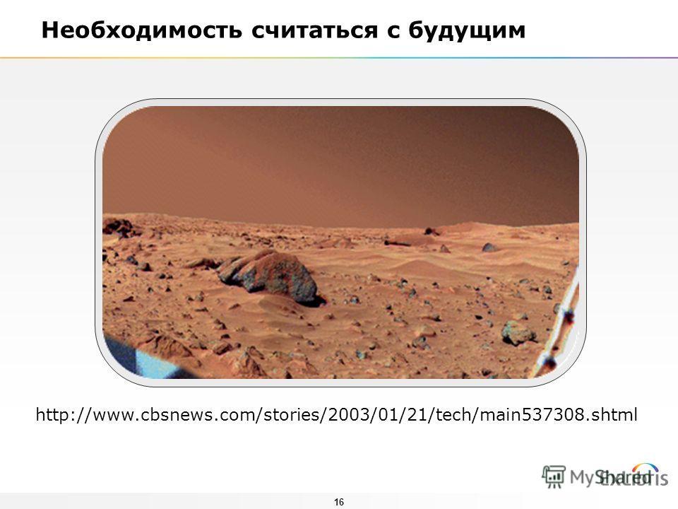16 Необходимость считаться с будущим http://www.cbsnews.com/stories/2003/01/21/tech/main537308.shtml