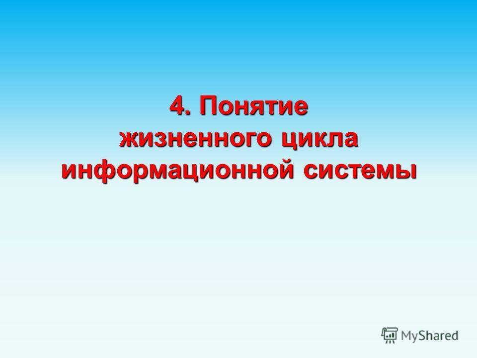 4. Понятие жизненного цикла информационной системы