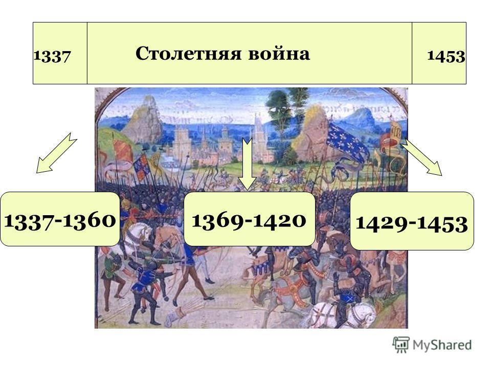 1369-1420 1429-1453 1337-1360 1337 Столетняя война 1453