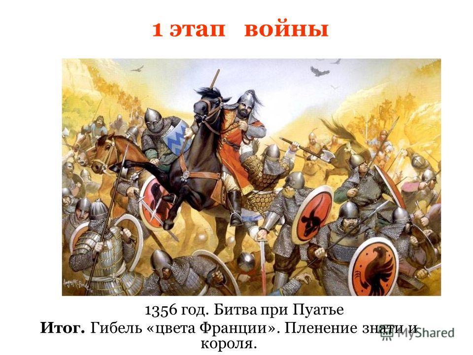 Итог. Гибель «цвета Франции». Пленение знати и короля. 1356 год. Битва при Пуатье