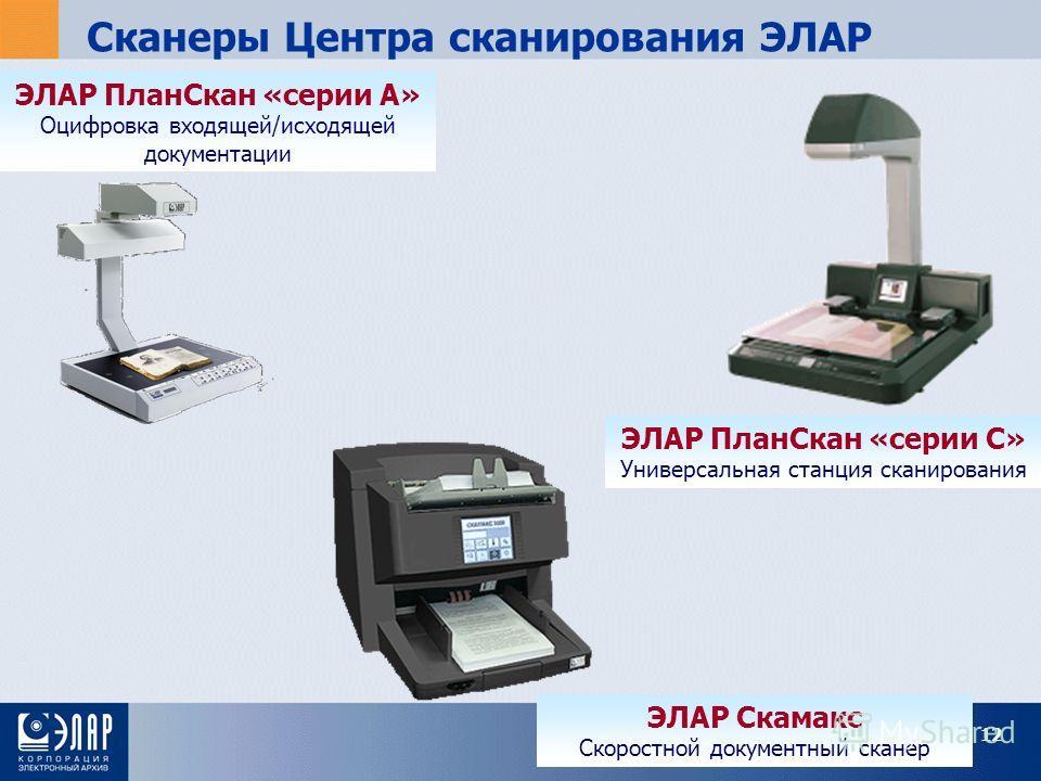 Сканеры Центра сканирования ЭЛАР ЭЛАР ПланСкан «серии А» Оцифровка входящей/исходящей документации ЭЛАР ПланСкан «серии С» Универсальная станция сканирования ЭЛАР Скамакс Скоростной документный сканер 12