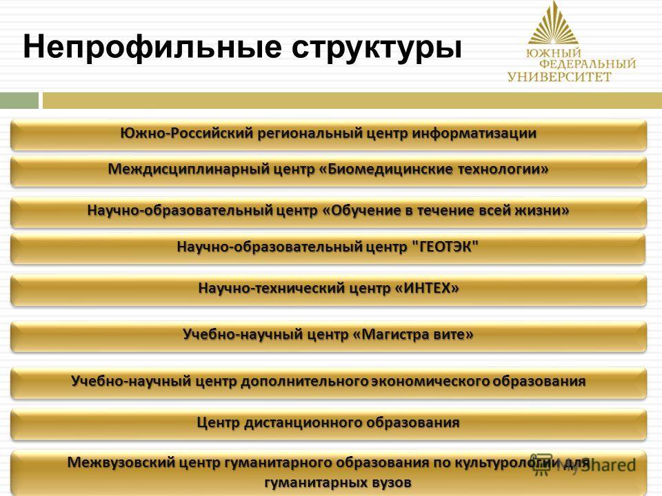 Непрофильные структуры Научно - образовательный центр « Обучение в течение всей жизни » Научно - образовательный центр