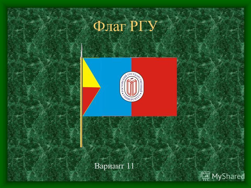 Флаг РГУ Вариант 11