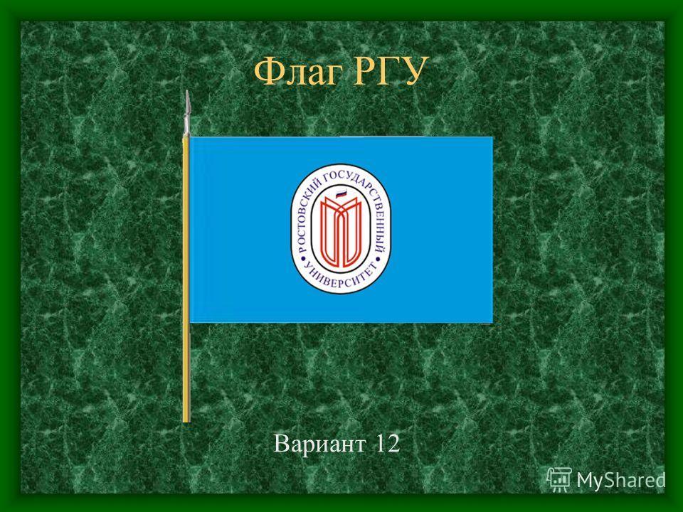 Флаг РГУ Вариант 12