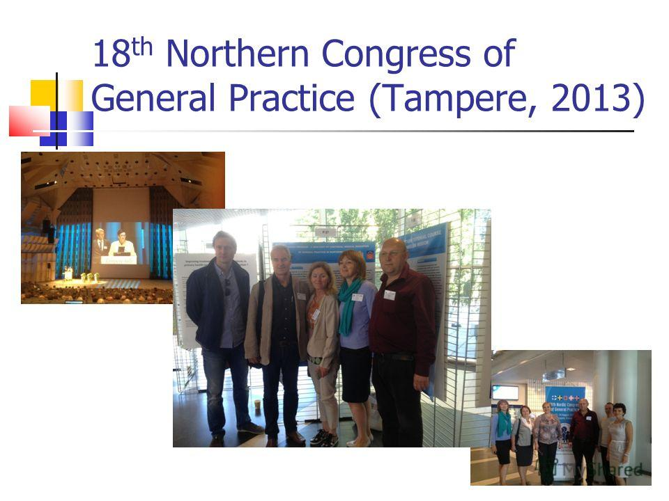 18 th Northern Congress of General Practice (Tampere, 2013)