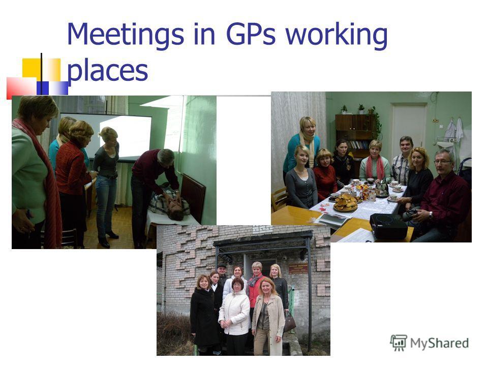 Meetings in GPs working places