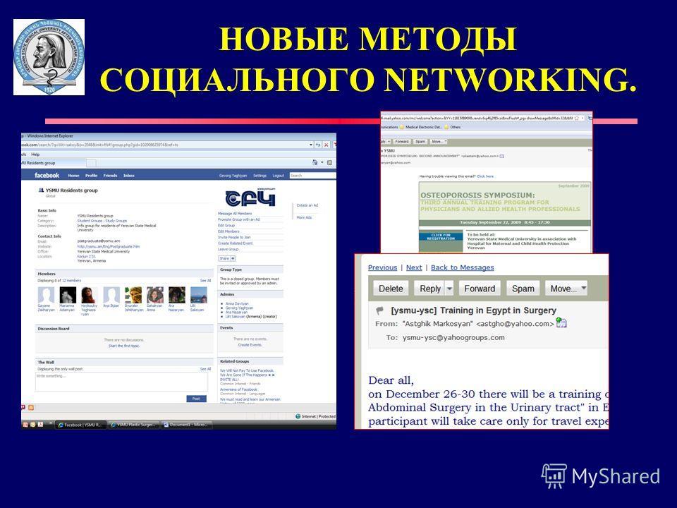 НОВЫЕ MЕТОДЫ СОЦИАЛЬНОГО NETWORKING.
