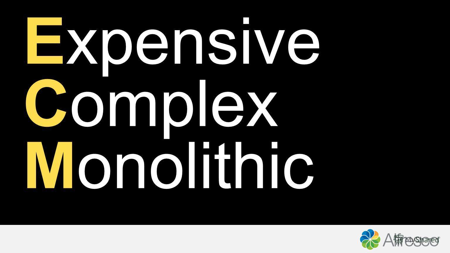 Expensive Complex Monolithic