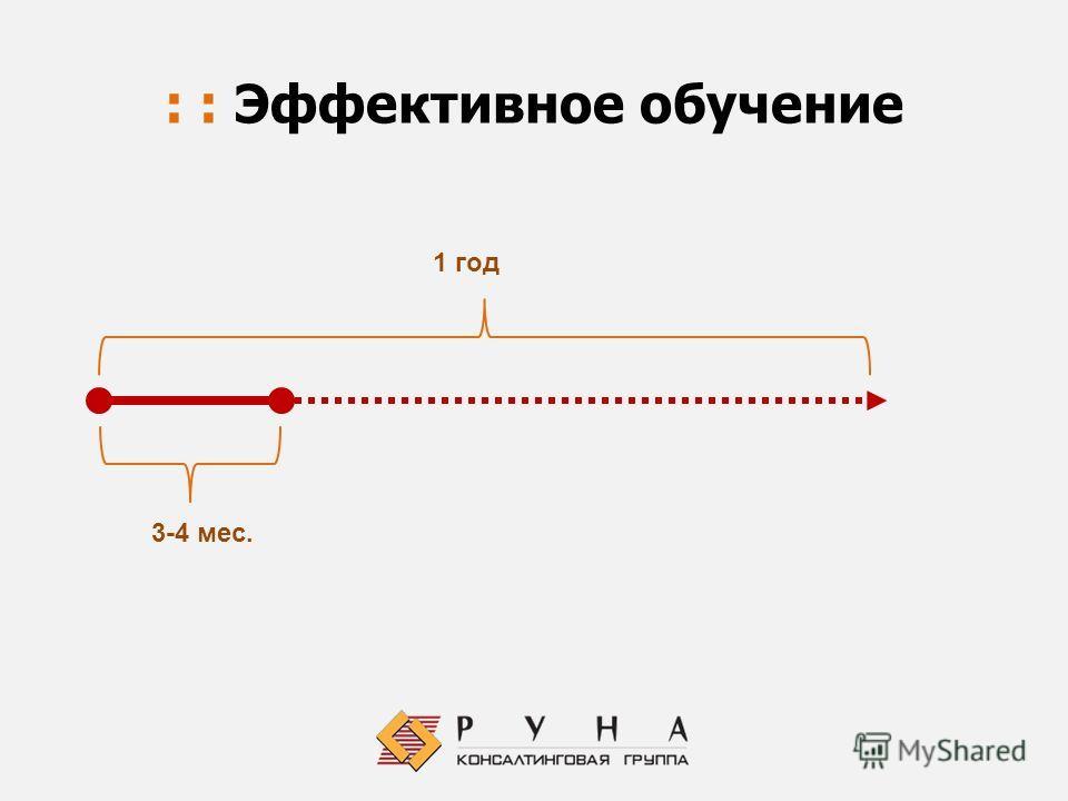 : : Эффективное обучение 3-4 мес. 1 год