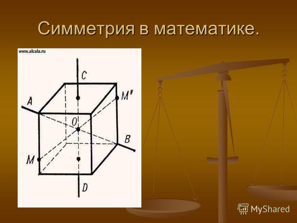 Симметрия в математике.