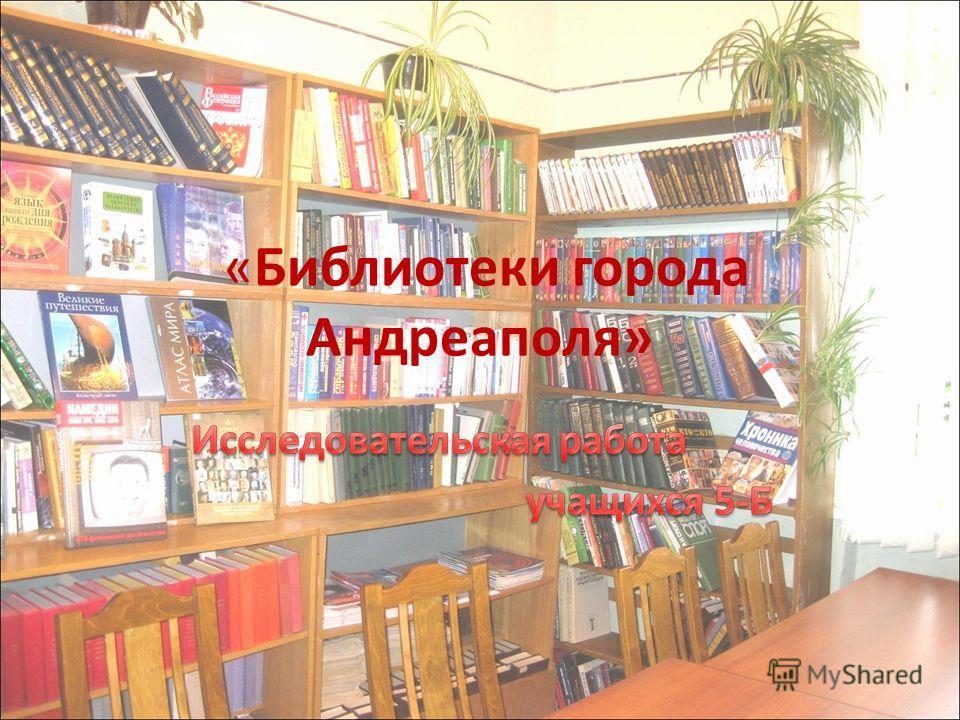 «Библиотеки города Андреаполя»