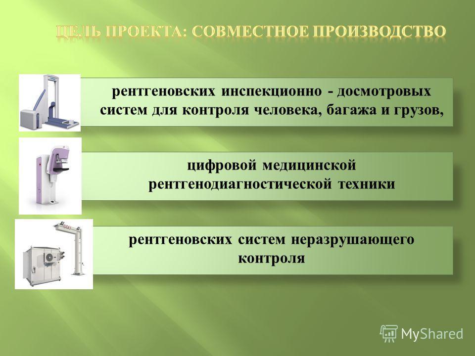 рентгеновских инспекционно - досмотровых систем для контроля человека, багажа и грузов, цифровой медицинской рентгенодиагностической техники рентгеновских систем неразрушающего контроля